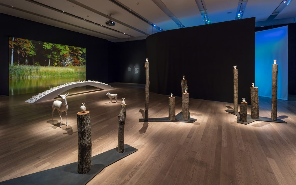 The Migration Stops Here in Janet Macpherson: A Canadian Bestiary at the Gardiner Museum, Toronto